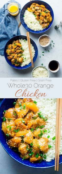 Whole30 Orange Chicken - This 30 minute, paleo orange chicken is so much better and healthier than takeout! It's a quick and easy, whole30 compliant dinner that the whole family will love! | http://Foodfaithfitness.com | /FoodFaithFit/