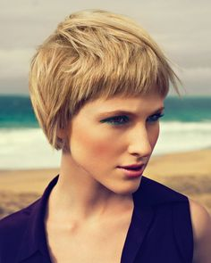 Popular Short Haircuts for Thick Hair Short Hairstyles for Thick Hair: Blonde Pixie HaircutShort Hairstyles for Thick Hair: Blonde Pixie Haircut Short Haircut Thick Hair, Pageboy Haircut, Blonde Pixie Haircut, Blonde Haircuts, Short Bangs, Girl Haircuts, Short Blonde, Popular Short Haircuts, Cool Short Hairstyles