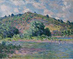 Claude Monet - The Banks of the Seine at Port-Villez, 1885