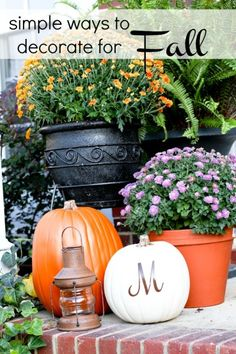Simple Ideas to Decorate for Fall - somewhat simple
