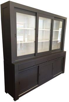 Winkelkast Novum antraciet 240cm China Cabinet, Bookshelves, Teak, Interior Decorating, Living Room, Storage, Kitchen Ideas, Inspiration, Furniture