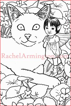 One of my favorite coloring pages from Fairy Kids and Kittens coloring book Adult Coloring Pages, Coloring Books, Fairy Paintings, Fairies, Kittens, Folk, Snoopy, My Favorite Things, Amazon