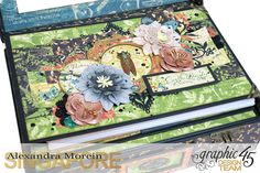 Nature Sketchbook Box&Notebook&ATC, Tutorial by Alexandra Morein, Product by Graphic 45, Photo 5