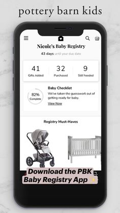 Getting Ready For Baby, Baby Checklist, Baby Registry, Pottery Barn Kids, App, Memes, Meme, Apps, Baby Check Lists