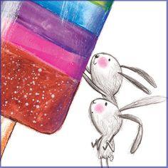 Illustration for children Laura Hughes, Bunny Art, Hare, Art Images, Coin Purse, Ice Cream, Drawings, Bunnies, Bun Bun