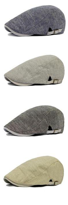 99073b7381e  7.12 Vintage Men s Cotton Beret Cap Casual Newsboy Hats Denim Shirt Men