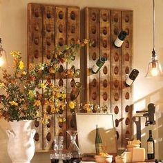 French Wine Bottle Riddling Rack - traditional - wine racks - Pottery Barn