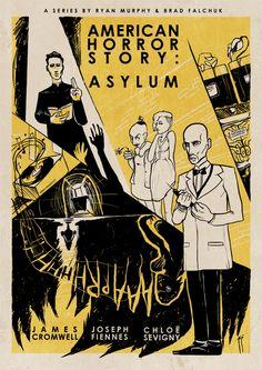 American Horror Story : Asylum (vintage inspired) by Roberto Sánchez, via Behance