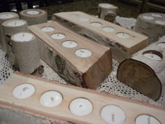 White Birch Candle Holders