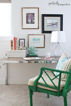 coastal bedroom & writing space | perfectly imperfect