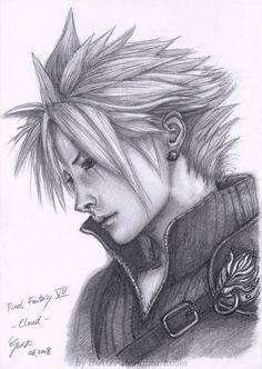 Cloud from Final Fantasy VII by *B-AGT on deviantART See the artists website here: http://b-agt.deviantart.com/