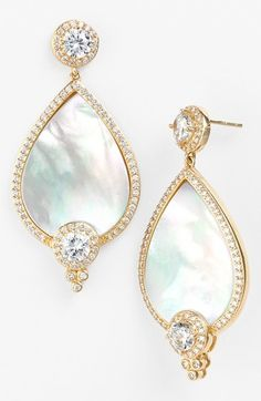 Freida Rothman 'Femme' Mother-of-Pearl Drop Earrings
