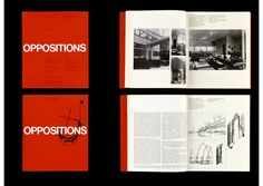 Cover for Oppositions - Institute for Architecture and Urban Studies  Designer: Massimo Vignelli