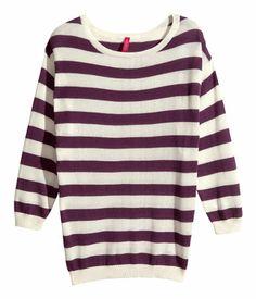 Basic Sweater by HM Burgundy