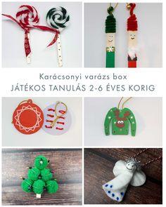 JÁTÉKOS TANULÁS 3-8 ÉVES KORIG KÉSZÍTSD EL SAJÁT KARÁCSONYI DÍSZEIDET!  JÁTÉKOS TANULÁS, KREATÍV FELADATOK Christmas Ornaments, Holiday Decor, Home Decor, Decoration Home, Room Decor, Christmas Jewelry, Christmas Decorations, Home Interior Design, Christmas Decor