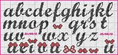 Disney Letters, Simple Cross Stitch, Cross Stitch Baby, Sorority Letters, Cross Stitch Letters, Needlepoint Stitches, Alphabet And Numbers, Knitting Charts, Peyote Stitch