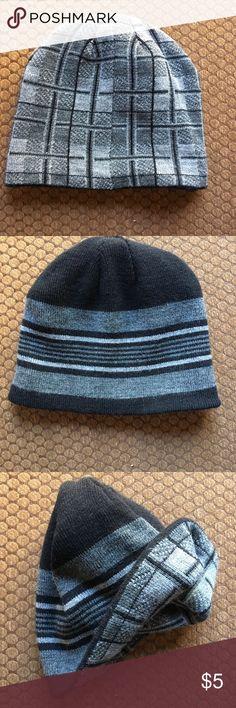 Reversible beanie - black and gray Rarely worn reversible black and gray beanie Accessories Hats