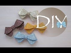 Бантик из глиттерного фоамирана DIY Tsvoric - YouTube
