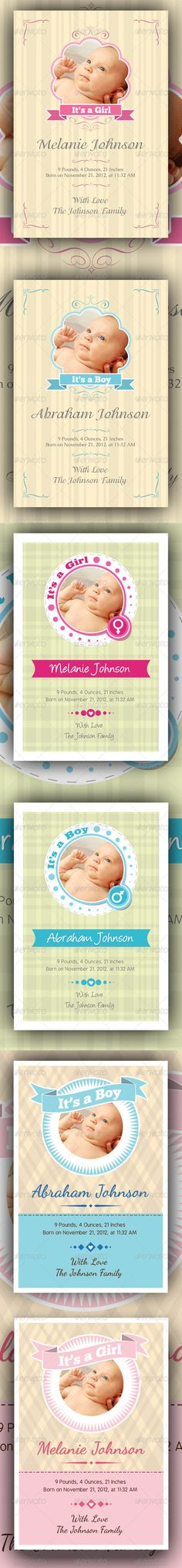 Baby Announcement Cards Bundle $6