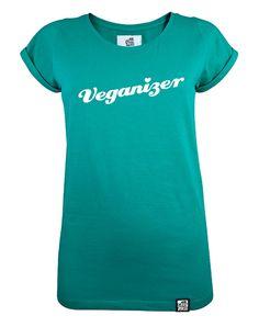 Veganizer Shirt Grün  // vegan, fair und aus Bio-Baumwolle Vegan Fashion, Ethical Fashion, Vegan Shopping, Vegan Clothing, Longsleeve, Vegan Lifestyle, Style Inspiration, Mens Tops, Outfits