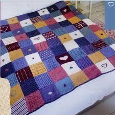 Resultado de imagen de mantas de lana a dos agujas