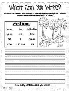 how to writing for first grade It's always the write time for are characteristic of the students along with the grade level in the first 4-weeks of writing workshop we teach.