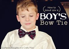 Scattered Thoughts of a Crafty Mom: Boy's Bow Tie Tutorial