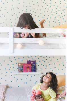 Shared Girls Room Decor Tips and Ideas for a Rental Home #homedecor #homedecorblogger #homedecorinspiration #decorating #decoratingideas #kidsspaces #kidsroom #sharedspaces #siblings #bunkbeds #sisters #coastaldecor #coastaldecorating #bedroom #kidsbedroom #rentalhome #rentaldecorating Kids Bedroom, Bedroom Decor, Rental Decorating, Decorating Tips, Pinterest Home, Diy House Projects, Kid Spaces, Beautiful Bedrooms, Coastal Decor