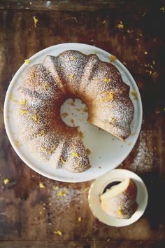 sweetened condensed milk cake w/ lemon zest by claire thomas
