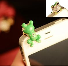 T&LOL High quality cute lovely green frog diamond crystal Pendant charm Earphone Stopper Jack Accessory antidust anti dust plug Ear Hole Cap Jack For Samsung Galaxy SIV S4 i9500 / Samsung i9100 i9300 N7100 /Apple iPhone 3 4 4s 5 /Cell Phone /iPad mini /iPod Touch /Mac tap Other 3.5mm Earjack + T&LOL bracelet T&LOL,http://www.amazon.com/dp/B00D0YYGQ2/ref=cm_sw_r_pi_dp_juCVsb1N5PJP0NJC