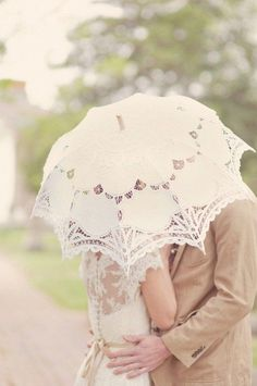 Special Offer Ivory Battenburg Lace Vintage Umbrella by ChoCoB