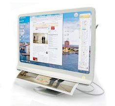 The Document Extractor, is combination of printer, scanner and monitor—all in one. Highly useful and practical, this unique monitor is a screen that doubles up as a printer.