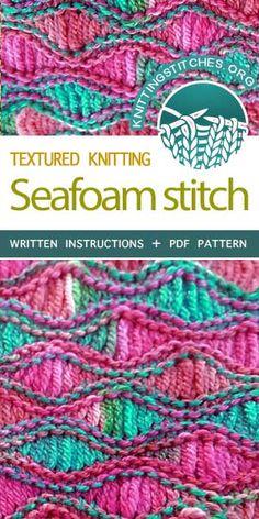 nitting Stitches -- Learn How to Knit a Sea Foam-Stitch Scarf .#KnittingPatterns