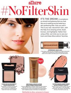 Want #NoFilterSkin? Try these four skin-perfecting beauty products recommended by Allure editors.