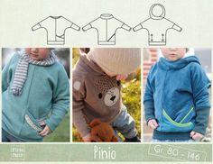 Pinio – ein Fledermausshirt für Jungen und Mädchen Gr. 80 bis 146 Pinio ist ein leger geschnittenes Shirt mit dezenter Fledermaus-Schnittführung und langen Armbündchen. Verschiedene Ausschnitt-,...