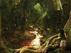 fantasy landscapes | 44 HD Masterpieces of Matte Paintings and Fantasy Scene Wallpapers ...