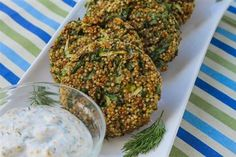 Herb Quinoa Patties with Lemon Dill Sauce - The Kitchen Table - The Eat-Clean Diet®