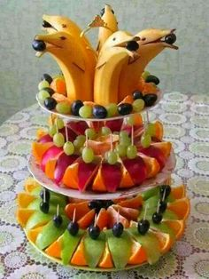 Banana Dolphin Fruit Platter - So cute for a summer party! / The Whoot                                                                                                                                                                                 More