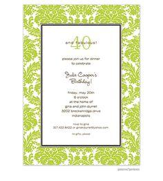 Forty Birthday Party Invite 60th Ideas Invitations