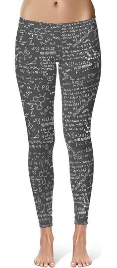 Science Chemical Formula Leggings