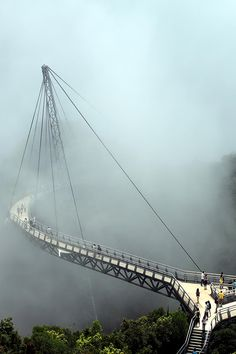 Langkawi Sky Bridge is a 125m long curved pedestrian cable-stayed bridge in Langkawi island, Malaysia. It is located 700m above sea level.