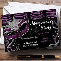 Masquerade Purple Personalized Birthday Party Invitations... https://www.amazon.com/dp/B01F298ZAA/ref=cm_sw_r_pi_dp_x_-pOFybKMHNFGR