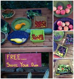 Cool idea of how to share veggies! Win our organic, non-GMO fall planting seed packs too! @Outside Inn Neighbors Vegetables