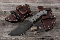 Leather Sheath For The T1 Tom Brown Tracker Knife - Hedgehog Leatherworks