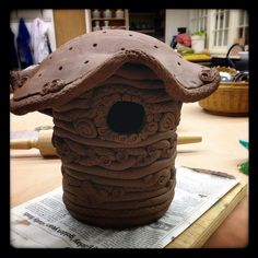 Coil birdhouse by Laurie B, via Flickr