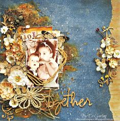 2 Crafty Chipboard : June Inspiration - Two Layouts To ShareBy Di Garling
