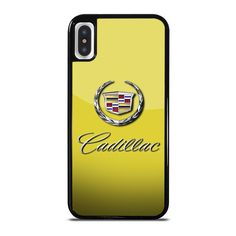 CADILLAC CAR LOGO YELLOW iPhone X Case - Best Custom Phone Cover Cool Personalized Design – Favocase