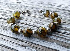 Jade bracelet, gemstone bracelet, tiger striped bracelet, beaded jewelry, Chakra bracelet, tennis bracelet, yoga bracelet, jade jewelry