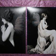 Set of 2 black satin, matt fairy prints £14.00