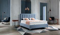 #Wohndesign #Schlafkomfort #Treca_Interiors_Paris #Bett #Ligne #Prestige #colette #bleu